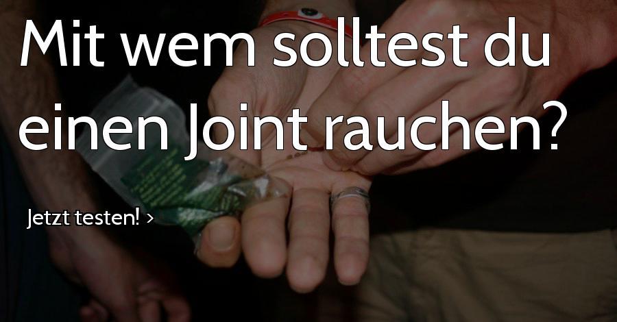 Mit wem solltest du einen Joint rauchen?